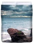 Land Water Sky Duvet Cover