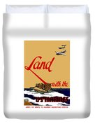 Land With The Us Marines Duvet Cover