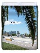 Landing In San Diego Duvet Cover