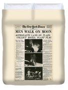 Landing On Moon, 1969 Duvet Cover