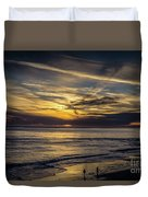 Lands End Sun Set  Duvet Cover