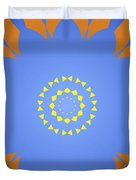 Landscape Abstract Blue, Orange And Yellow Star Duvet Cover