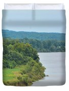Landscape Along The Tennessee River At Shiloh National Military Park, Tennessee Duvet Cover