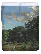 Landscape At Chailly Duvet Cover