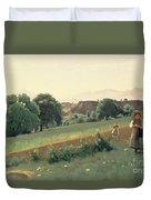 Landscape At Mornex Duvet Cover