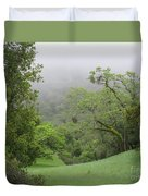 Landscape In Fog Duvet Cover