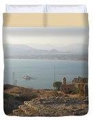 Landscape In Gold  Duvet Cover