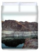landscape in Hoover dam Duvet Cover