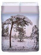 Landscape In Pastel Colors Duvet Cover