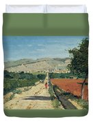 Landscape In Provence Duvet Cover by Paul Camille Guigou