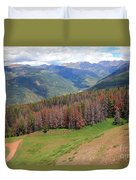 Landscape In Vail Duvet Cover