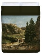 Landscape Near Ornans Duvet Cover