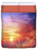 Landscape Of Dreaming Poppies Duvet Cover
