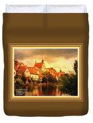 Landscape Scene - Germany. L A With Alt. Decorative Ornate Printed Frame. Duvet Cover