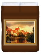 Landscape Scene - Germany L A With Decorative Ornate Printed Frame. Duvet Cover
