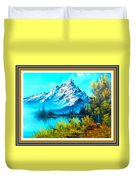 Landscape Scene Near Virginiahurst L B With Alt. Decorative Onate Printed Frame  Duvet Cover