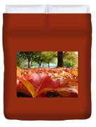 Landscape Trees Park Art Prints Autumn Fall Leaves Baslee Troutman Duvet Cover