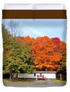 Landscape View Of Mobile Home 2 Duvet Cover
