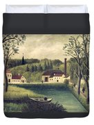 Landscape With A Fisherman Duvet Cover
