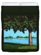 Landscape With A Lake And Tree Duvet Cover