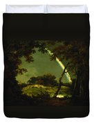 Landscape With A Rainbow Duvet Cover by Joseph Wright of Derby