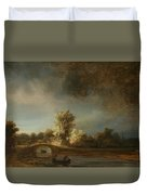 Landscape With A Stone Bridge Duvet Cover