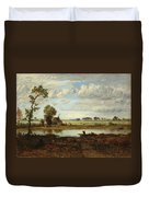 Landscape With Boatman Duvet Cover
