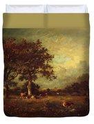 Landscape With Cows 1870 Duvet Cover
