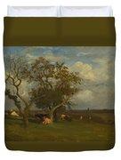 Landscape With Cows Duvet Cover
