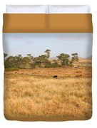 Landscape With Cows Grazing In The Field . 7d9957 Duvet Cover