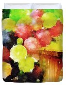 Landscape With Giant Grapes Duvet Cover