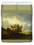 Landscape With Oaktree Duvet Cover