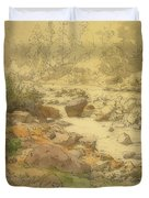Landscape With Rocks In A River Duvet Cover