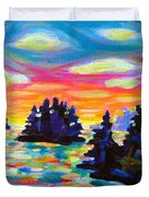 Landscape With Saucers Duvet Cover