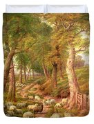 Landscape With Sheep Duvet Cover
