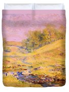 Landscape With Stream Duvet Cover