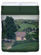 Landscape With Thatched Barn Duvet Cover