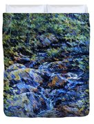 Landscape With Waterfall 1890 Duvet Cover