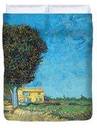 Lane Near Arles Duvet Cover