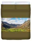 Langdale Fell And Pikes Panorama Duvet Cover