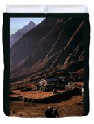 Langtang Village Duvet Cover