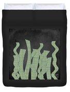 Languettes 02 - Lime Duvet Cover