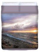 Laniakea Beach Sunset Duvet Cover