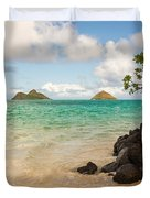 Lanikai Beach 1 - Oahu Hawaii Duvet Cover