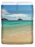 Lanikai Beach 4 - Oahu Hawaii Duvet Cover