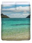 Lanikai Beach 4 Pano - Oahu Hawaii Duvet Cover