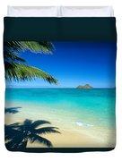 Lanikai Beach Duvet Cover