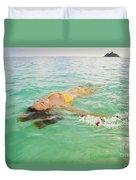 Lanikai Floating Woman Duvet Cover