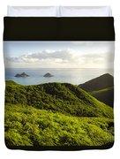 Lanikai Hills Duvet Cover by Dana Edmunds - Printscapes