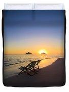 Lanikai Lounging At Sunrise Duvet Cover